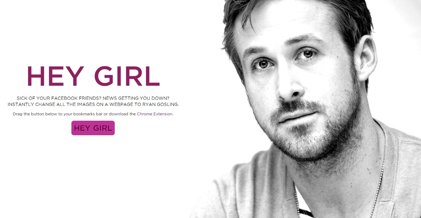 Hey Girl, Put Ryan Gosling All Over Your Browser With This ...